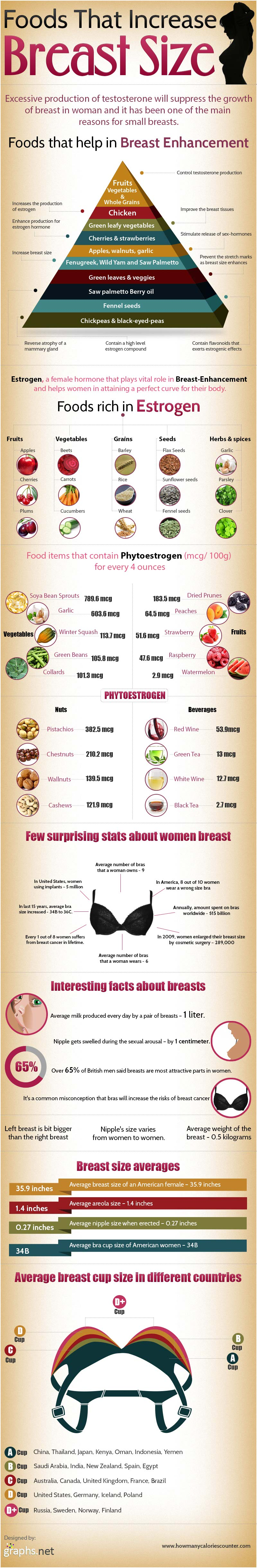 Natural Foods To Increase Breast Size