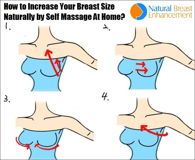 how to increase breast size by massage at home